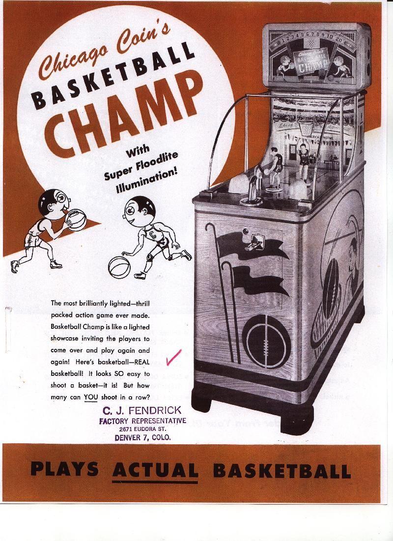 1947 Chicago Coin Basketball Champ coin operated manikin
