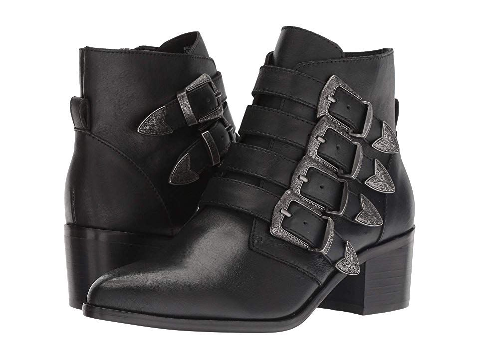 986fb47b132 Steve Madden Billey Bootie (Black Leather) Women's Boots. Show those ...