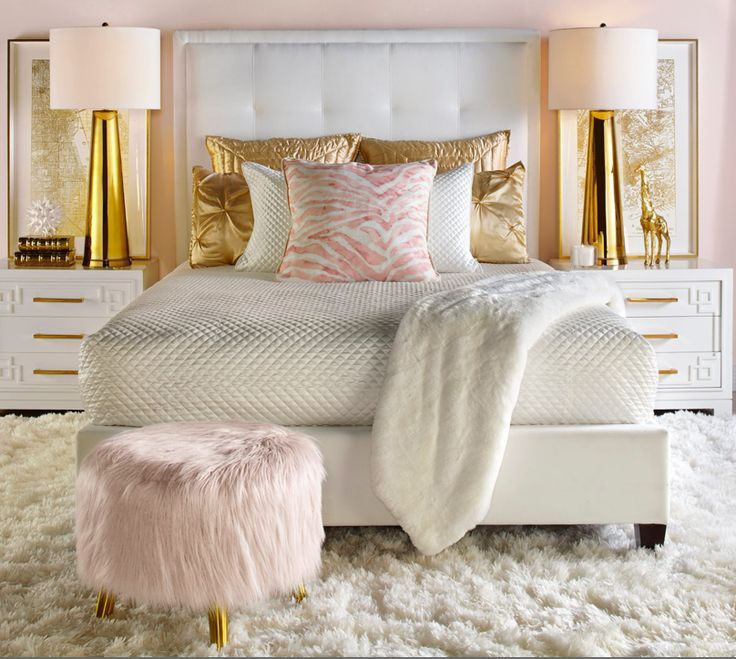 Blushing Bedroom Gold Bedroom Decor Bedroom Inspirations Gold Bedroom