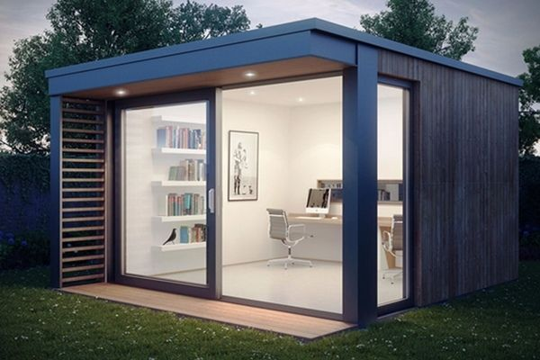 mini pod garden office shed ideas sliding glass doors modern