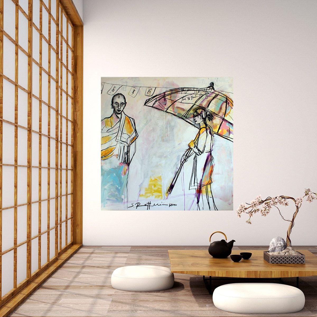 Acrylbild Wandbild Xxl Leinwand Kunst Gemaltes Bild Leinwandbild Gemälde Die Begegnung Acrylbilder Leinwandbilder Xxl Leinwand