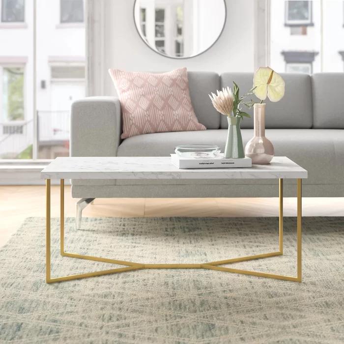 Devito Cross Legs Coffee Table Coffee Table Furniture Living Room