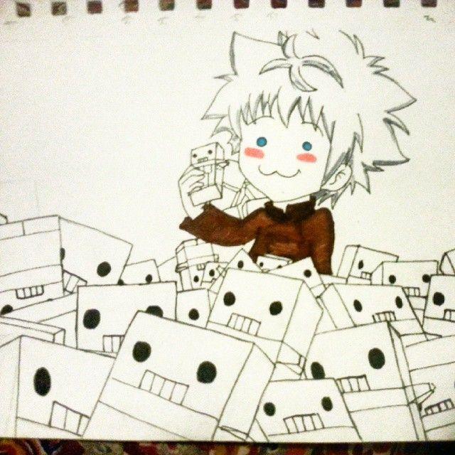 """Killua ♡♡ #killuazoldyck #killua #hxh #hunterxhunter #chocolate #robots #myart #art"""