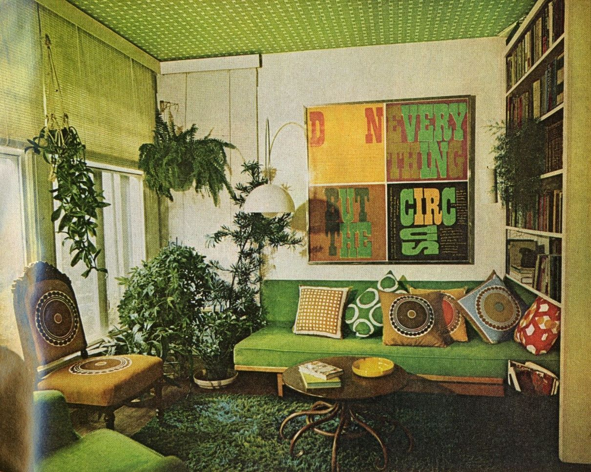 Image result for green 70s bedroom | 70s decor, 70s home ...