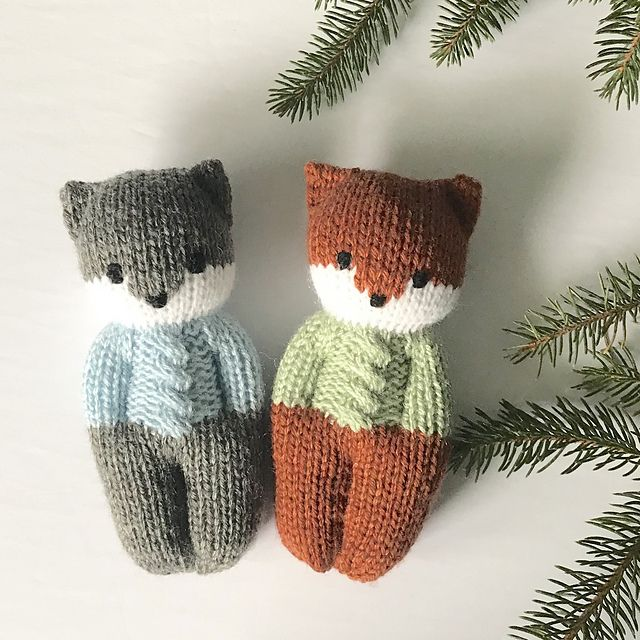 Forest Friends Dolls pattern by Esther Braithwaite #knitteddollpatterns