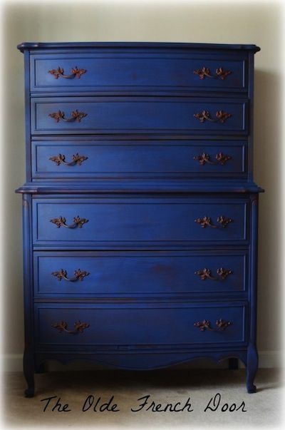 meuble peint bleu napol on peinture sur bois pinterest. Black Bedroom Furniture Sets. Home Design Ideas