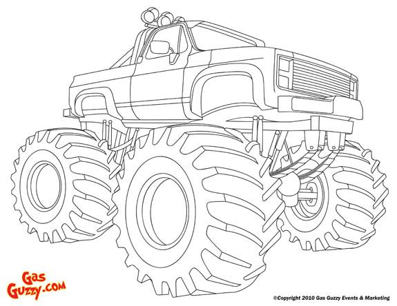 Monster Truck Color Page Affordable Free Printable Truck Coloring
