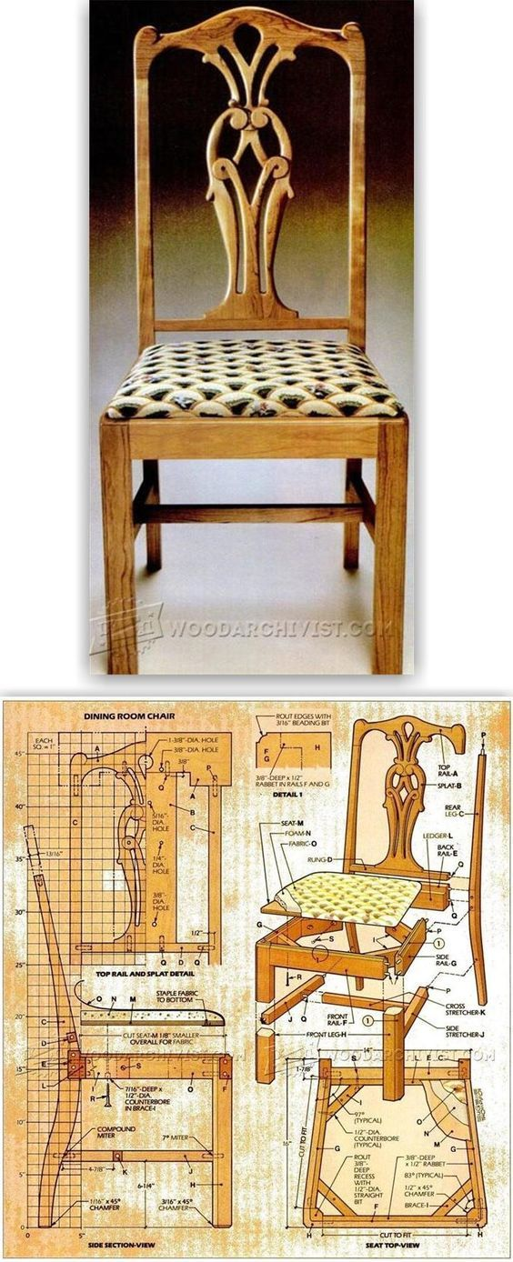 Superbe Dining Room Chair Plans   Furniture Plans And Projects | WoodArchivist.com