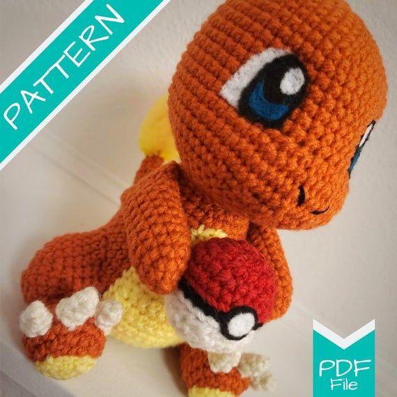 Charmander pokemon amigurumi | Pokemon, Brinquedos de crochê ... | 570x570