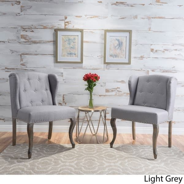 Best Niclas Wing Back Studded Fabric Accent Chairs Set Of 2 640 x 480