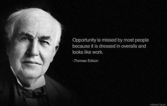 توماس اديسون هو مخترع ورجل اعمال هو من اخترع العديد من الاجهزه لكن من أهمها المصباح الكهر Inspirational Celebrity Quotes Edison Quotes Thomas Edison Quotes