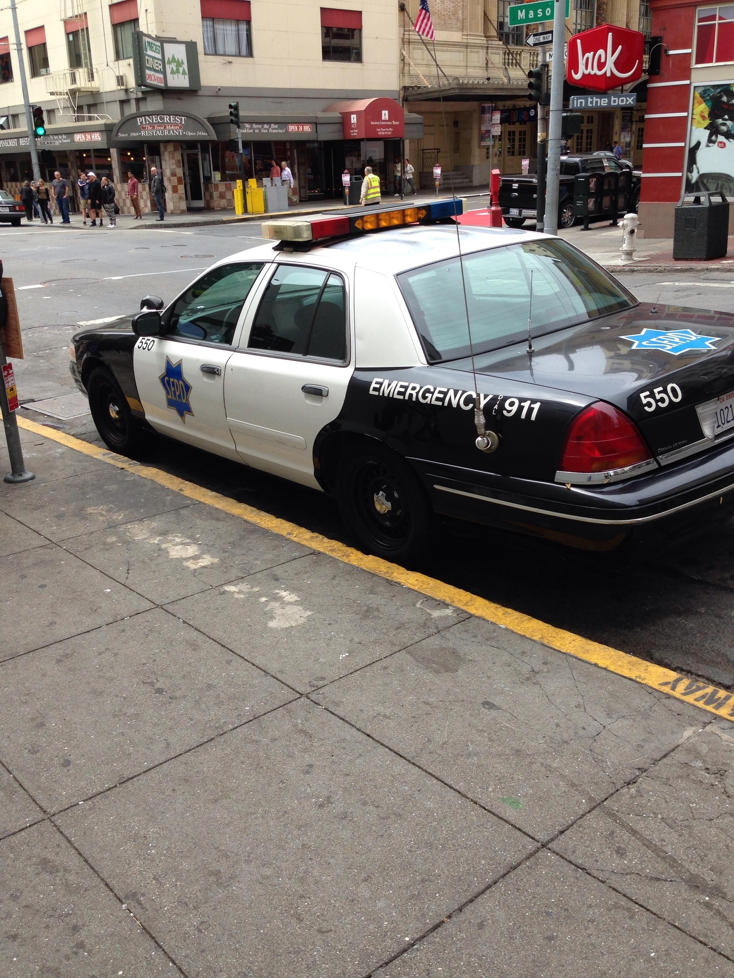 San Francisco Police Ford Crown Victoria Police Cars Police