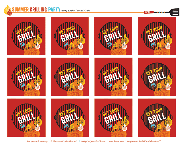 Get your grill on! Summer BBQ Party FREE Printables by Jenn Sbranti for HWTM