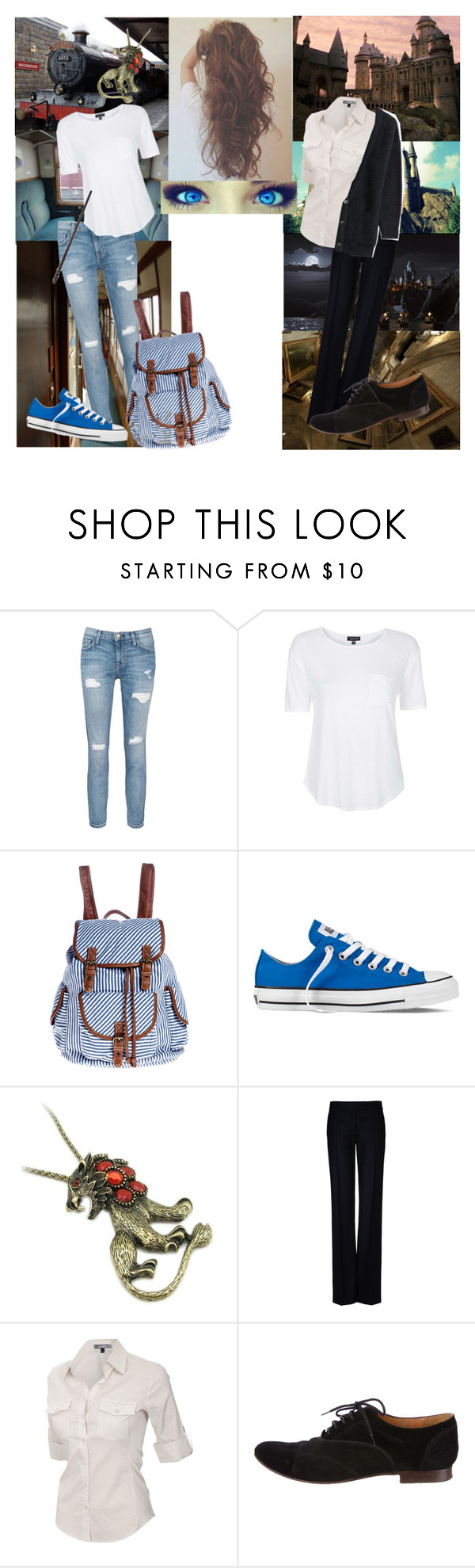 """Harry Potter - Leo Black - September the first 1991"" by rather-be-surfing ❤ liked on Polyvore featuring SOLD Design Lab, Current/Elliott, Topshop, Converse, STELLA McCARTNEY, J.TOMSON, Lanvin, Closed, women's clothing and women"