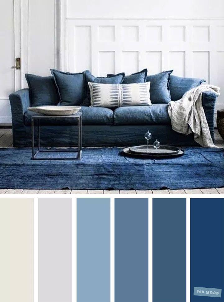The Best Living Room Color Schemes Blue Light Grey Color Palette Blue Living Room Color Living Room Color Room Color Schemes