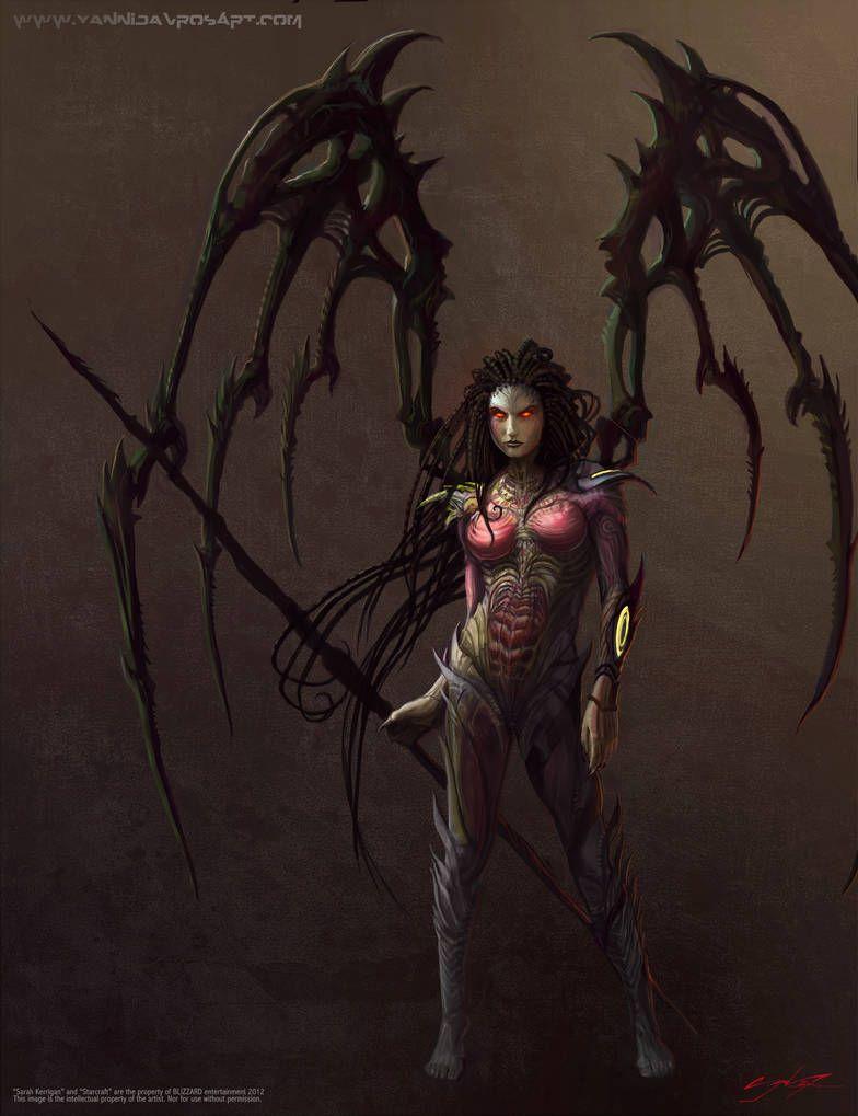 Скачать обои fanart, queen of blades, starcraft 2