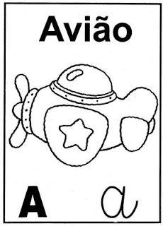 Cartelas Com Vogais Com Imagens Alfabeto Para Colorir