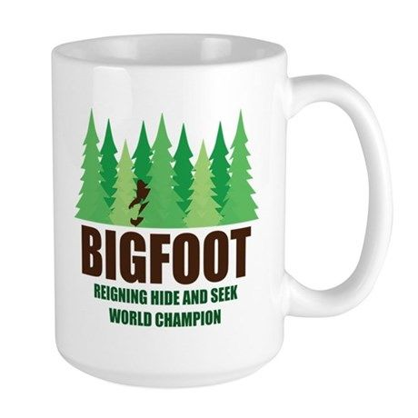00381a46 Bigfoot Sasquatch Hide and Seek World Champion Mug #Ad heavyweight#world# Bigfoot#undisputed#ad