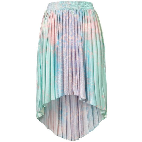 top shop high low pastel skirt ❤ liked on Polyvore featuring skirts, bottoms and faldas