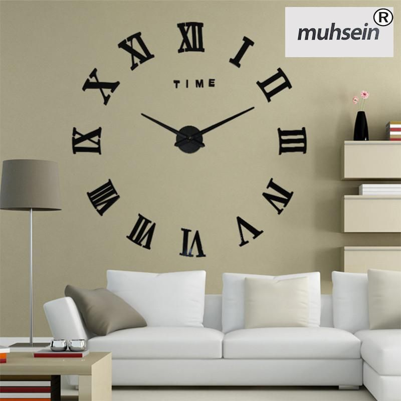 New Home Decoration Wall Clock Big Mirror Wall Clock Modern Design Large Size Wall Clocks Diy Wall Sticker Unique Gift Watch Mirror Wall Clock Wall Stickers Unique Large Vintage Wall Clocks