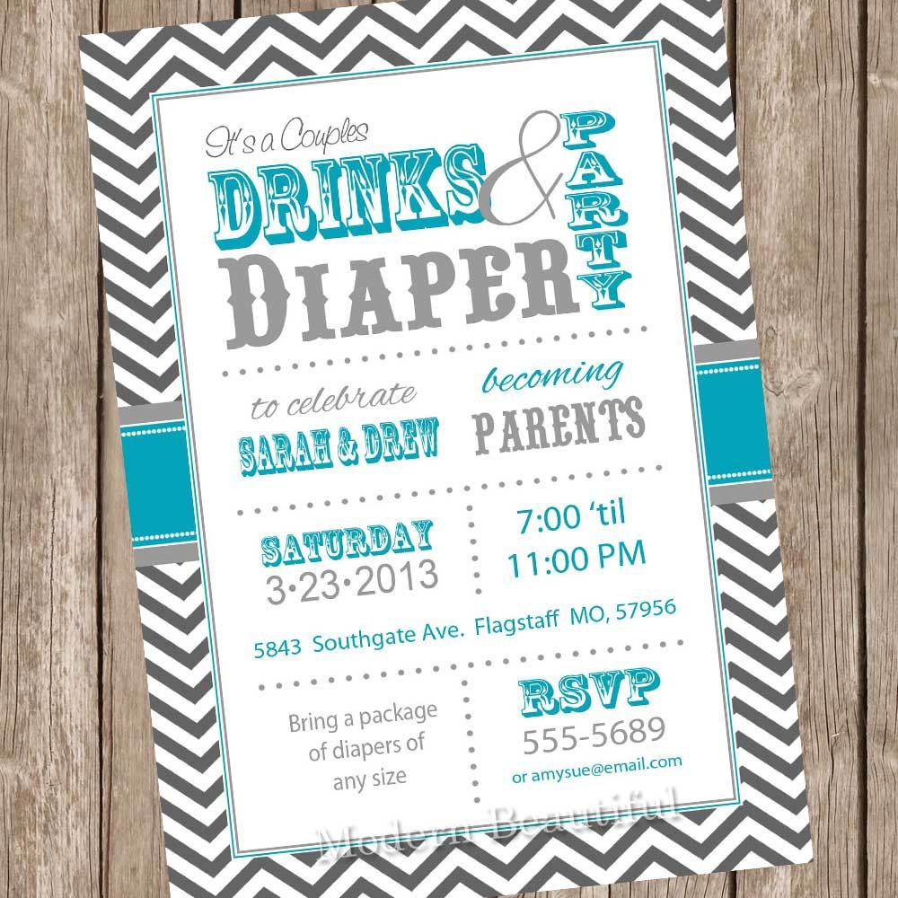 Co-Ed Baby Shower Invites
