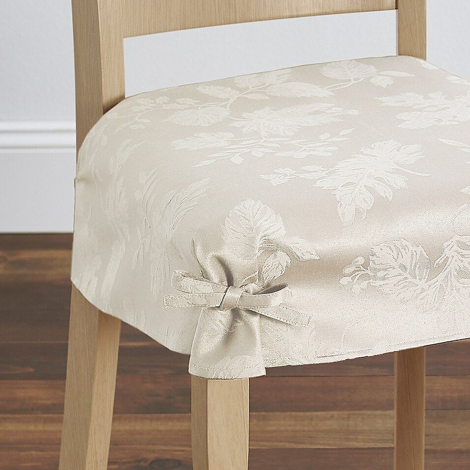 Autumn Medley Seat Covers In Ivory Set Of 2 Slipcovers For Chairs Furniture Slipcovers Seat Covers