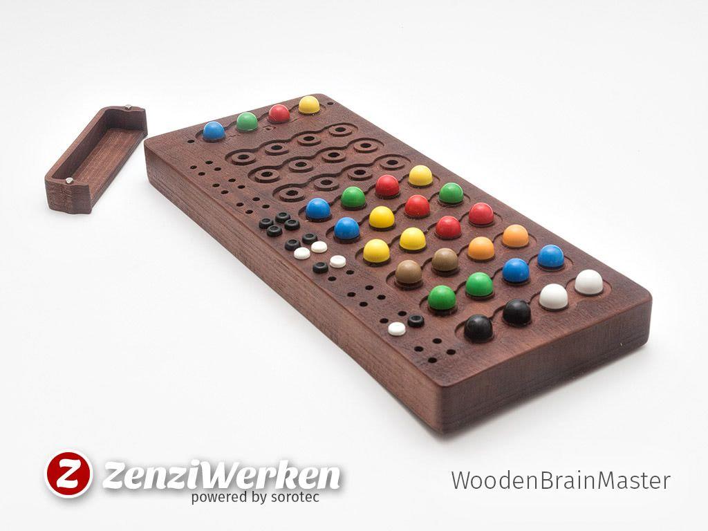 ZenziWerken Superhirn aus Holz / Mastermind Game made