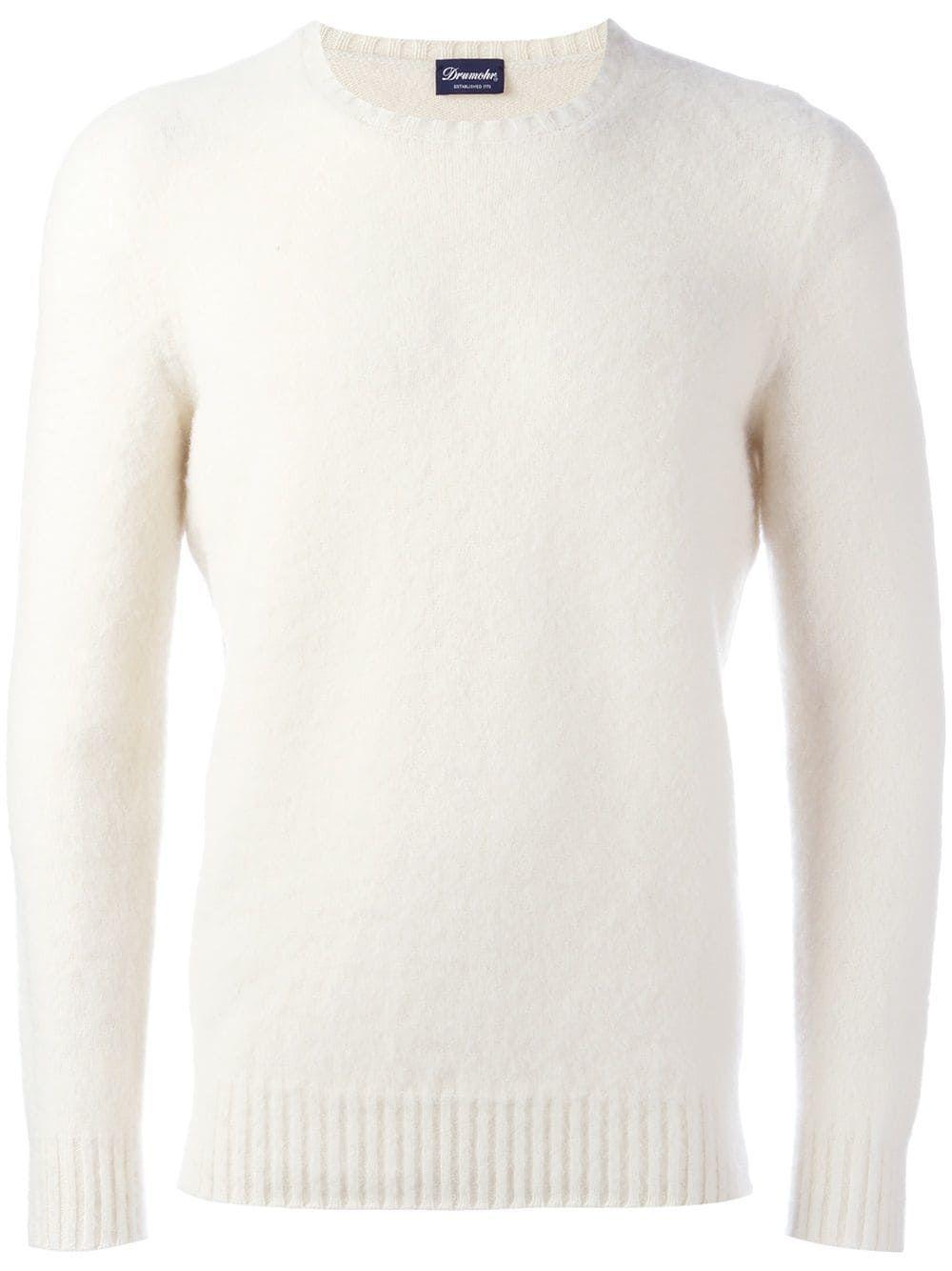 8ba5d6d9bb3d1d DRUMOHR DRUMOHR CREW NECK JUMPER - WHITE. #drumohr #cloth ...