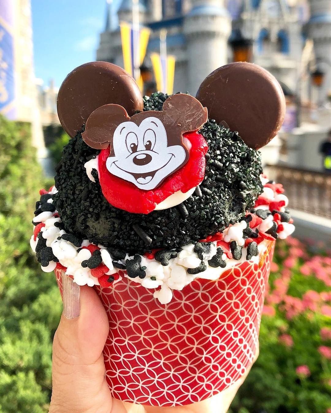 Disney Food Blog On Instagram New Cupcake Alert Find This Actually Pretty Tasty Mickey Mouse Club Cupcake In Disney Food Disney Desserts Disney Food Blog