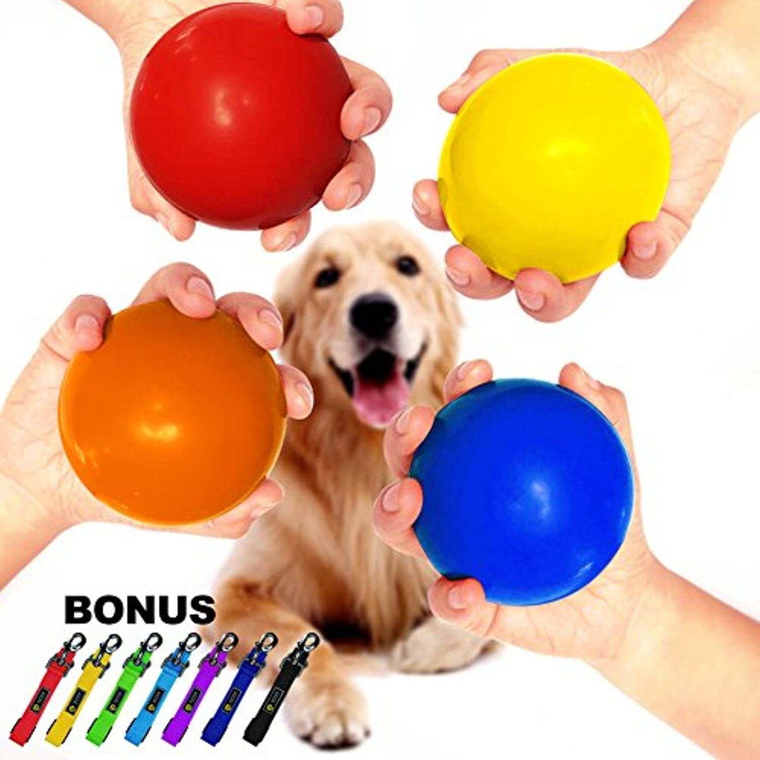 Watfoon Dog Bouncy Ball Xxl Durable Solid Non Toxic Rubber Toy