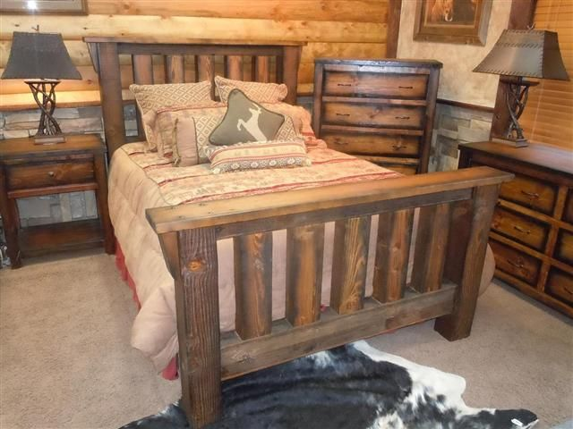 Awesome Solid Barnwood Bedroom Furniture  Rugged Canyon Collection