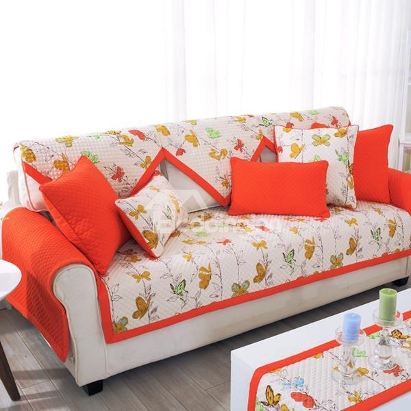 Slip Proof Square Rectangle Polyester And Cotton Floral Print Sofa Covers Sofa Covers Printed Sofa Diy Sofa Cover