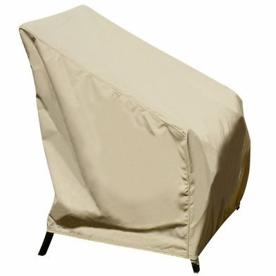Blue Wave High Back Chair Winter Cover In Beige Patio Furniture