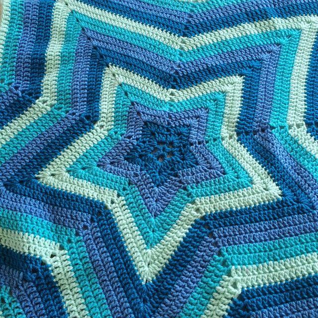 patternpiper crochet blue star ripple | crochet y punto | Pinterest ...