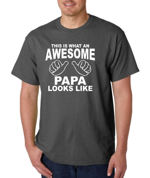 AWESOME PAPA Shirt t-shirt tshirt Mens Fathers Day Christmas Gift ...
