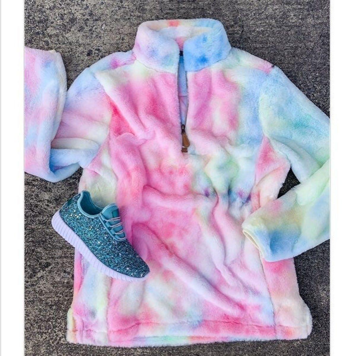 Tie Dye Sherpa Small Pullover Sweater Roupas Tumblr Roupas Perfeitas Moletons Femininos [ 1200 x 1200 Pixel ]
