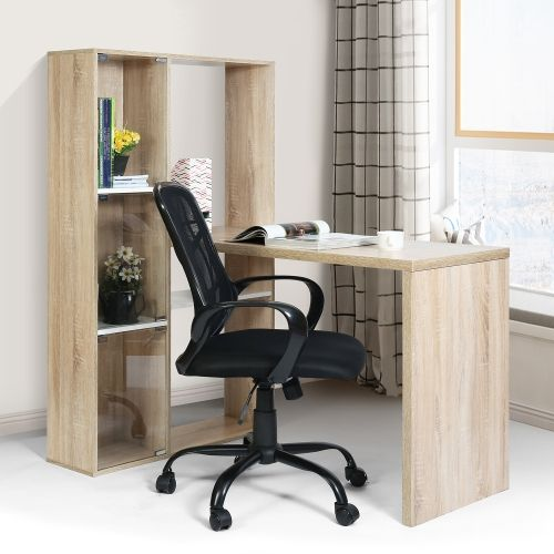 Admirable Computer Table With Book Shelfa With Big Storage Beech Alphanode Cool Chair Designs And Ideas Alphanodeonline