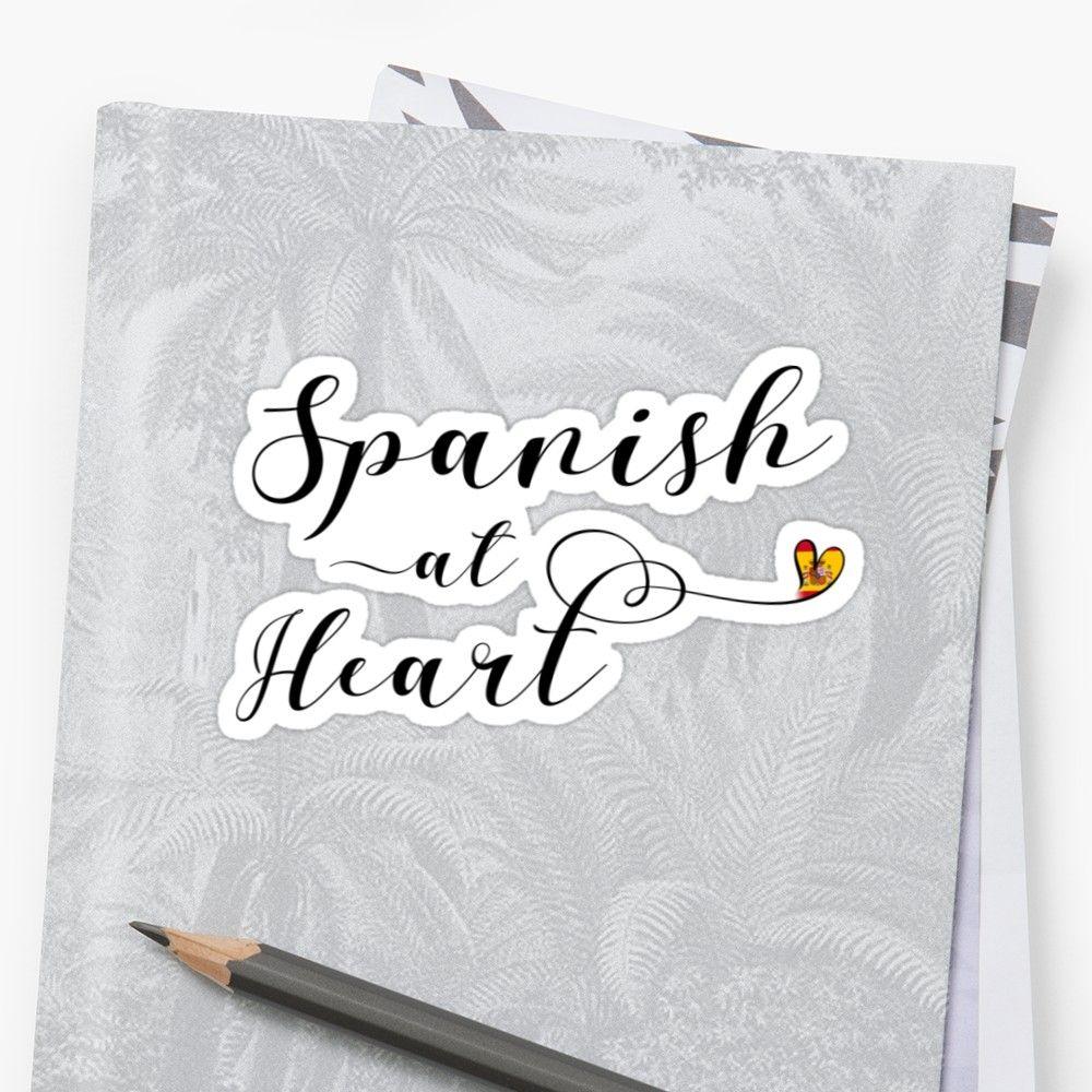Spanish At Heart Sticker, Spain Sticker Sticker