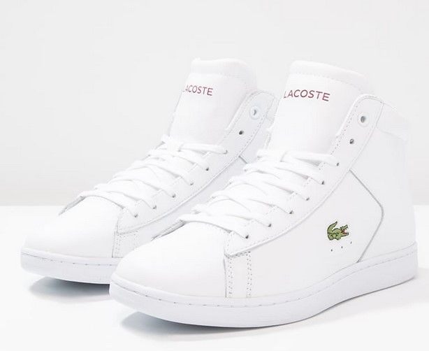 7cf5102ba6 Lacoste CARNABY EVO Baskets montantes weiß/rot Basket Montante, Basket Femme,  Chaussure,