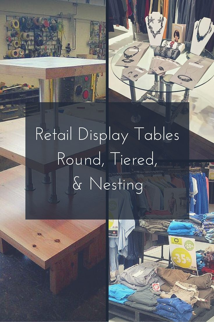 Retail Display Tables Round Tiered Nesting Retail Display Glass Shelves In Bathroom Display