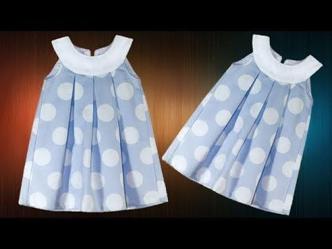 DIY Box Pleated Yoke Baby Frock Full Tutorial – Knit