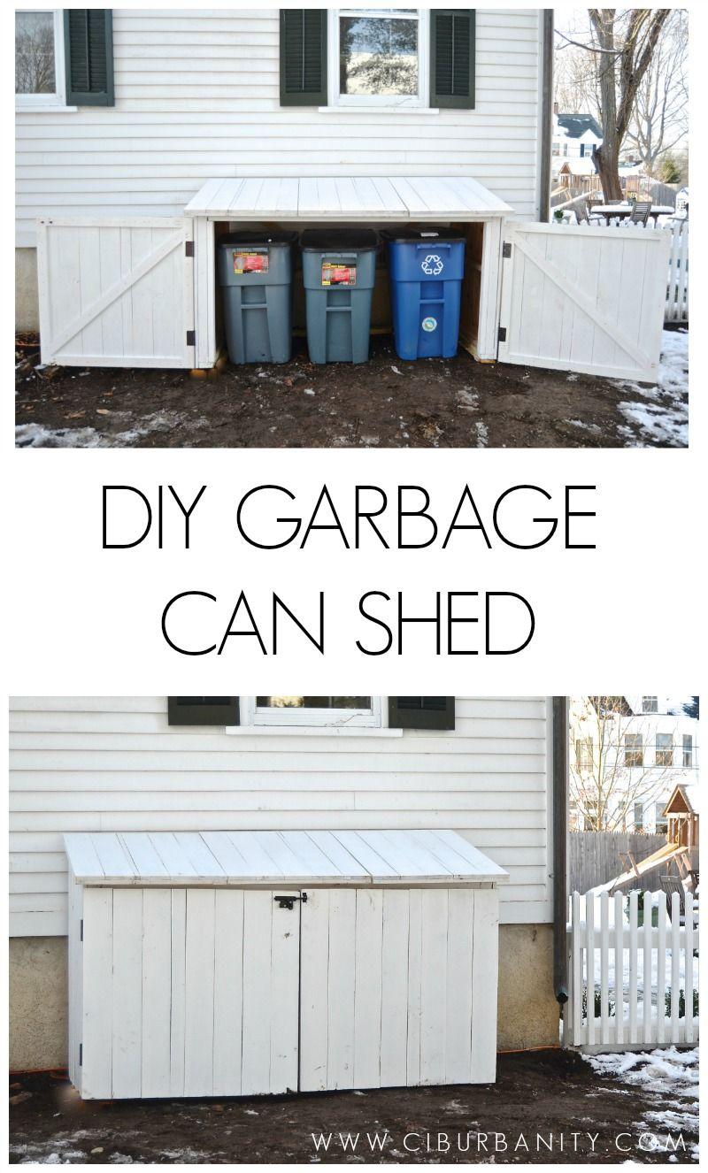 Diy garbage can shed more