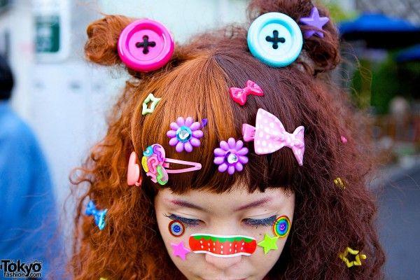 Decora Kei The Band Aid Is Too Cute Street Snap Fashion Harajuku Hair Decora