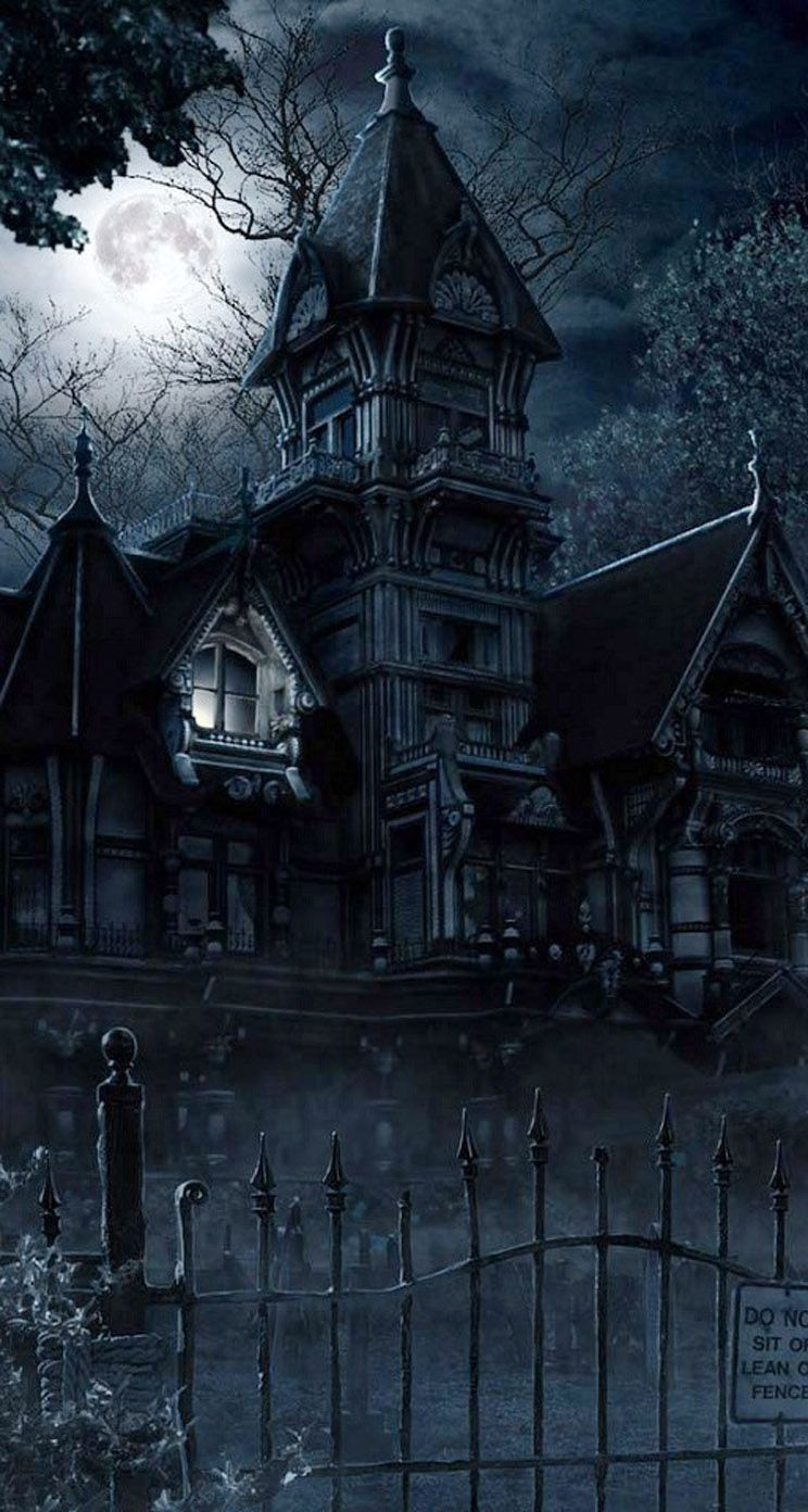 Iphone Wall Halloween Tjn Creepy Houses Halloween Wallpaper Gothic Wallpaper
