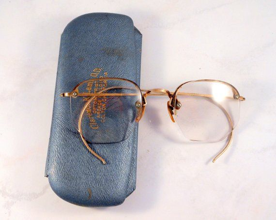 6aa75fe52d05 Vintage Bausch & Lomb Rimway Ful-Vue gold filled wire rim bifocal glasses.  So retro. Lovely Art Deco design on the bridge and the temples.