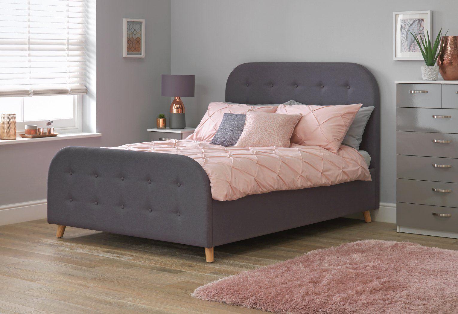 Buy Argos Home Ashby Ottoman Small Double Bed Frame Grey