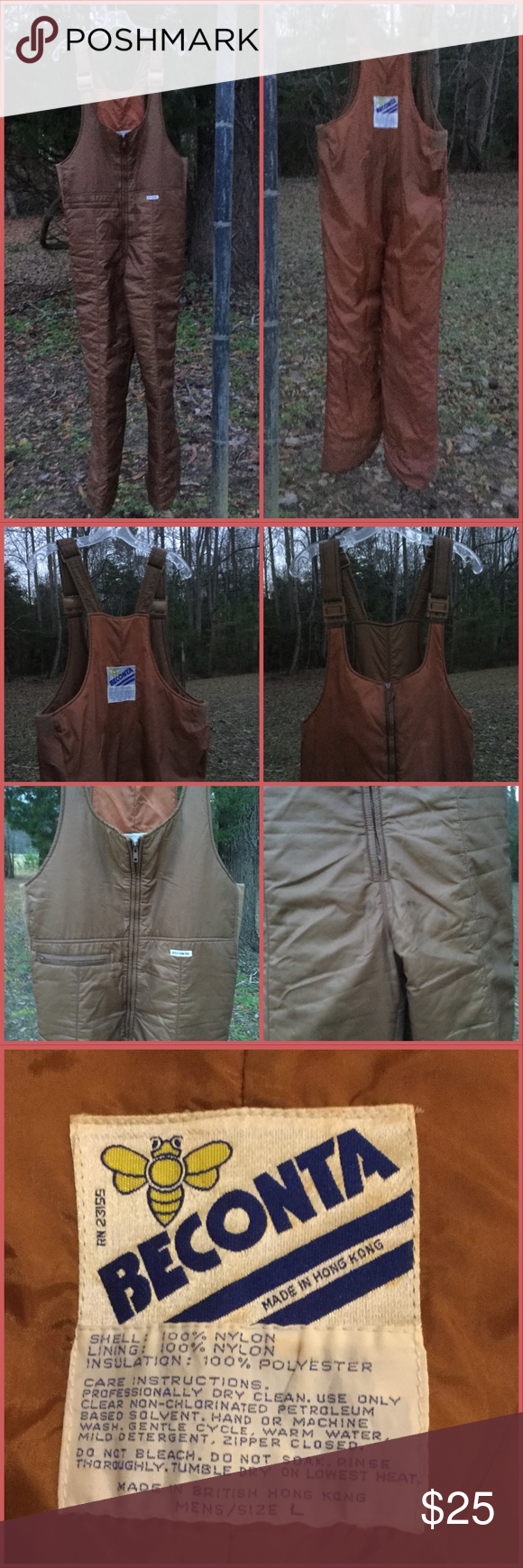 insulated overalls for hunting or sking label beconta guc on insulated overalls for men id=14732