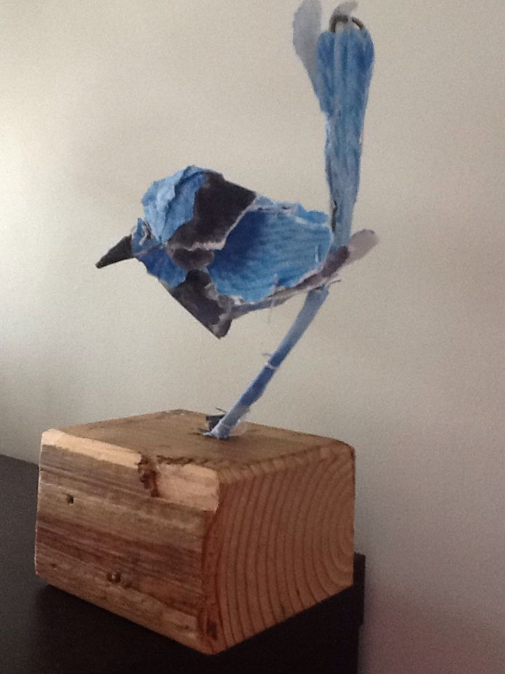 Paper sculpture bird #1