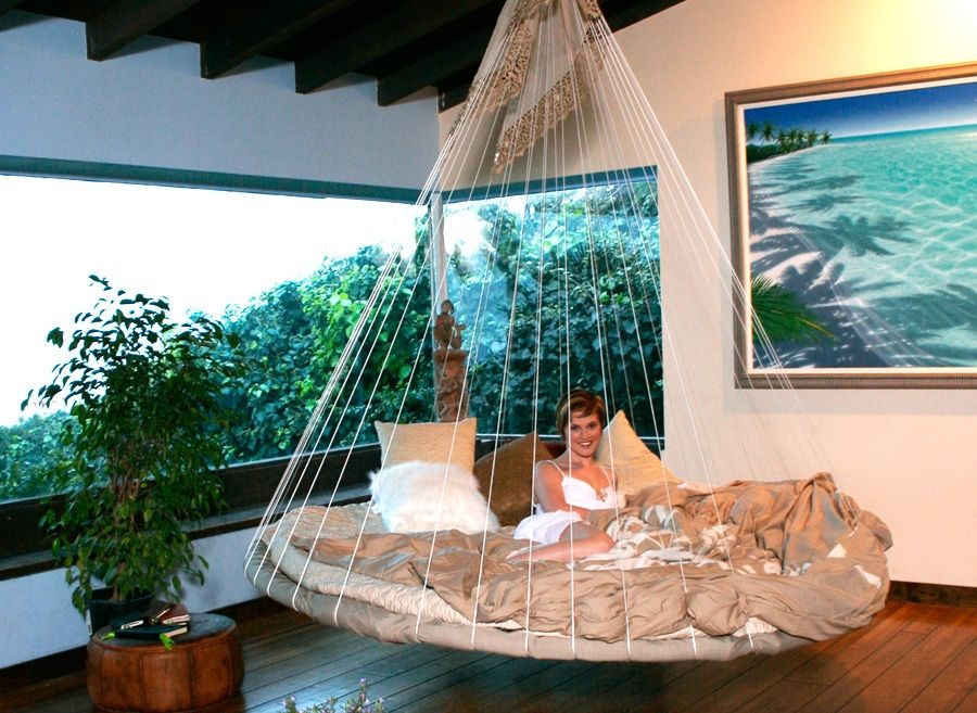 cute design indoor floating bed hammock   indoor hammocks for bedroom   10 crazy ideas for your home   floating bed daybed and mattress  rh   pinterest