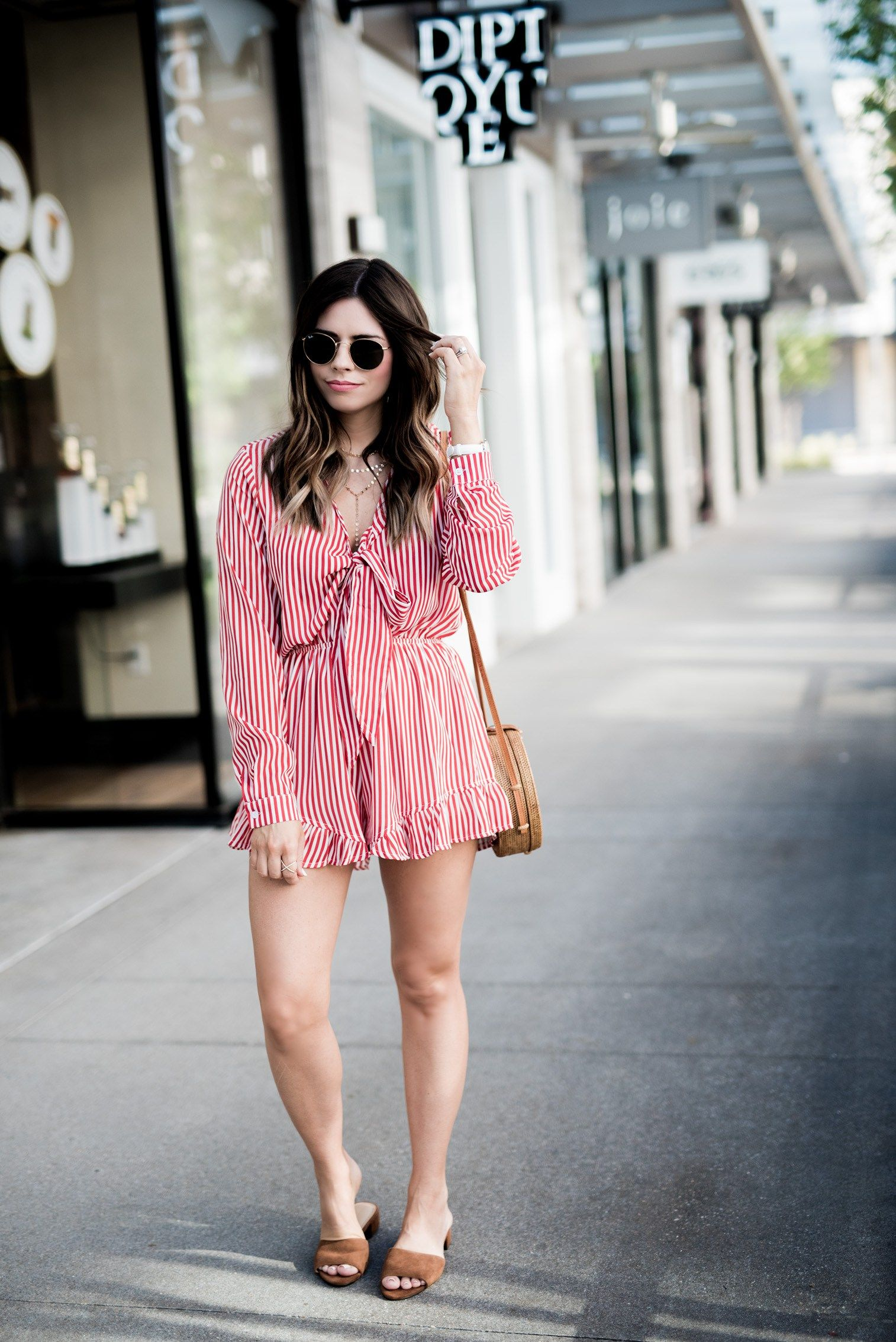 Striped Romper Flaunt And Center Fashion Cute Summer Dresses Summer Fashion 2017 [ 2268 x 1514 Pixel ]